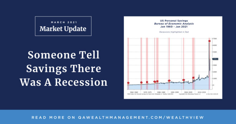 Market Update March 2021 – Someone Tell Savings There Was A Recession