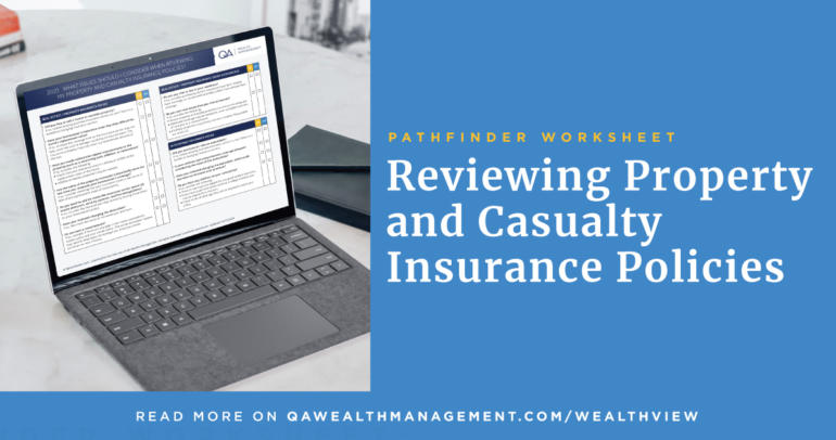 Pathfinder Worksheet: Reviewing Property and Casualty Insurance Policies